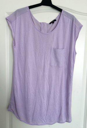 Lila T-Shirt mit Reißverschluss hinten