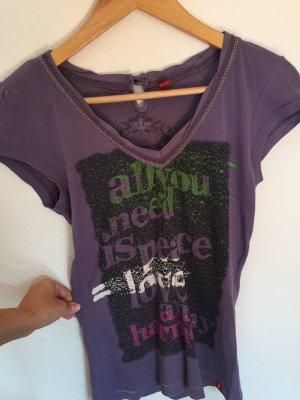 Lila T-Shirt von edc