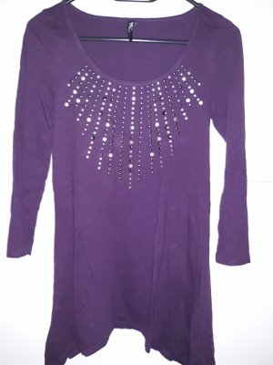lila Tunikashirt 3/4arm 34/36 S