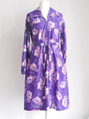 Lila Vintage Blumen Kleid Gr. 40 - 44