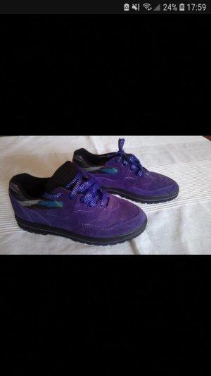 lila vintage Sneakers velours leder