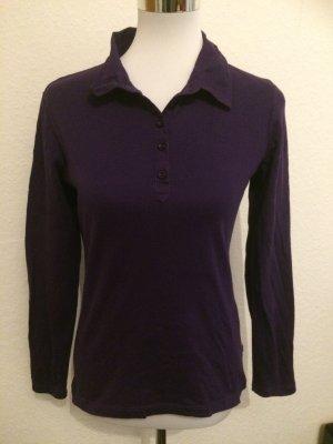 lila / violettes Langarmshirt / Shirt mit Blusenkragen - Gr. 40