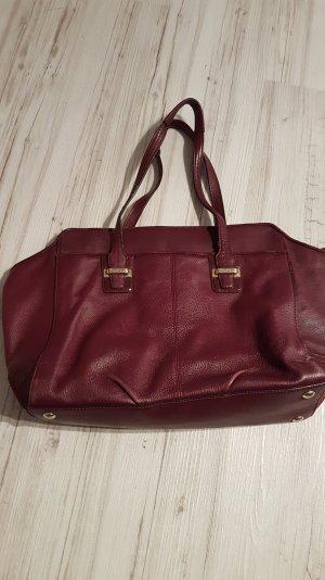 Lila/weinrote Tasche von Coach