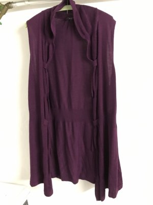 Knitted Vest dark violet