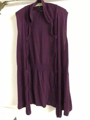 Knitted Vest dark violet