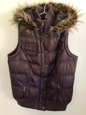 Clockhouse Capuchon vest bruin-paars