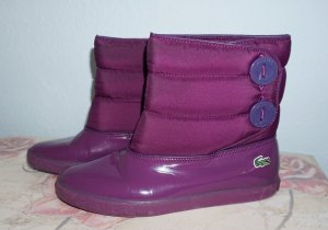 Lacoste Snow Boots lilac synthetic material