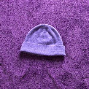 Chapeau en tricot violet-violet