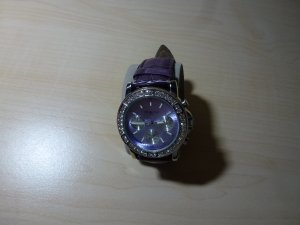 Fabiani Watch With Leather Strap blue violet