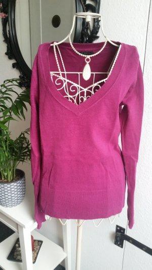 Lilafarbener Pullover
