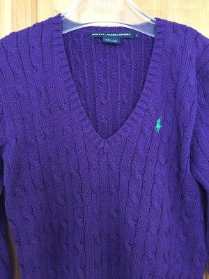 Lilafarbener Pullover von Ralph Lauren Sport in Größe M