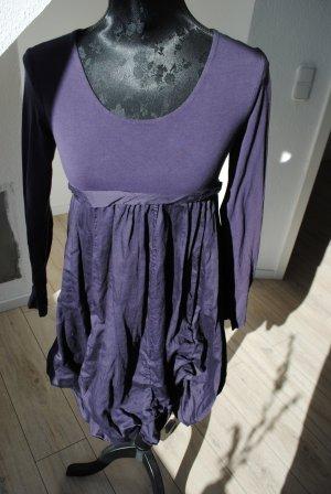 Made in Italy Abito a palloncino viola scuro Cotone