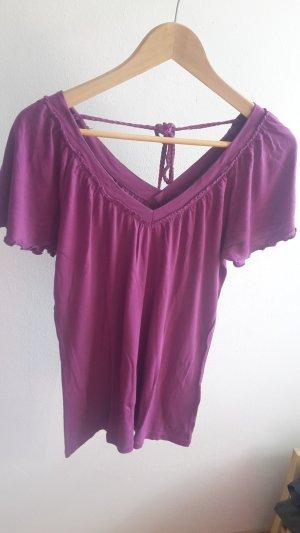 lilafarbenes Shirt von Esprit in Größe M