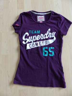 lilafarbenes SUPERDRY T-Shirt in Gr. S