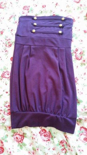 Vestido bandeau violeta oscuro