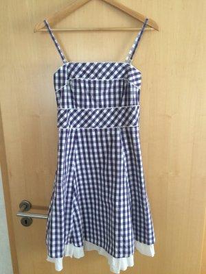 Lilaweiß Kariertes Kleid