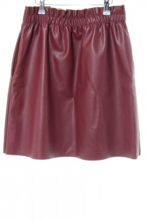 Lili & Lala Faux Leather Skirt red casual look
