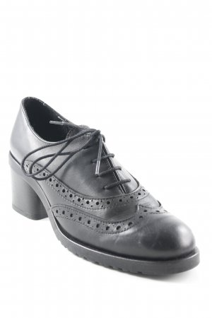 Lili Mill Zapatos estilo Oxford negro estilo «business»