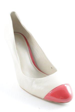 Lilienfels High Heels creme-rot Rockabilly-Look