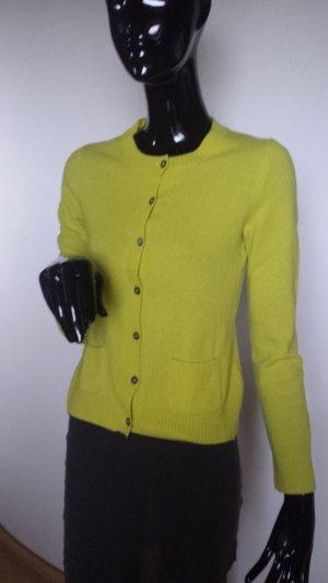 Lilienfels, Kashmir Strickjacke in kräftgem gelb Gr. 36