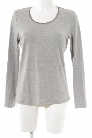Lilienfels Camisa larga gris moteado look casual