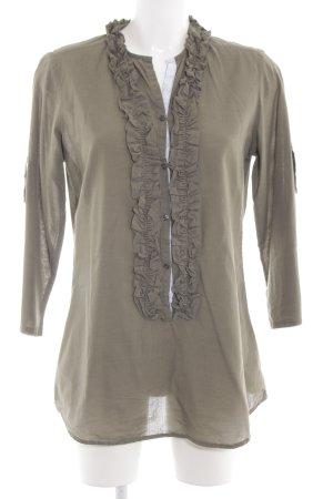 Lilienfels Rüschen-Bluse khaki Casual-Look