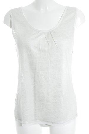 Lilienfels schulterfreies Top weiß-silberfarben Casual-Look