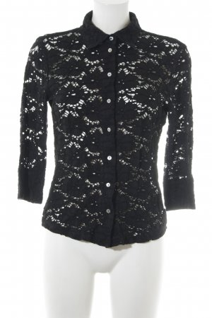 Lilienfels Blusa in merletto nero stile casual