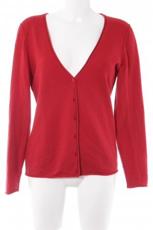 Lilienfels Strick Cardigan rot Casual-Look