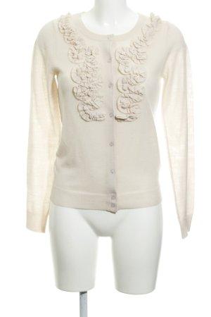 Lilienfels Gilet tricoté rose chair Motif de tissage style décontracté