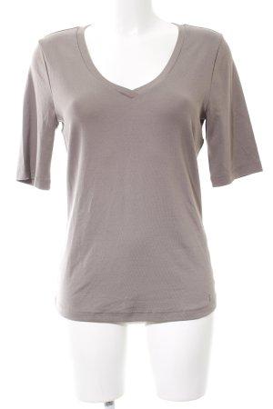 Lilienfels V-Ausschnitt-Shirt braun Casual-Look