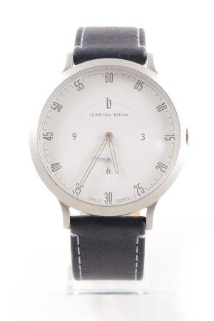 Lilienthal Berlin Uhr mit Lederarmband dunkelblau Street-Fashion-Look