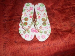 Toe-Post sandals multicolored synthetic material