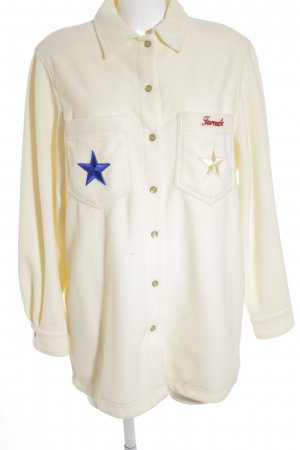 Lily Farouche Fleece Jackets natural white star pattern extravagant style