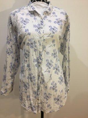 Lily & Me Baumwollbluse, Hemdbluse, mit Blumenprint, Gr. 46, NEU und ungetragen
