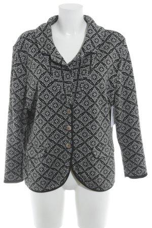 Lily White Jersey blazer grijs-zwart grafisch patroon casual uitstraling