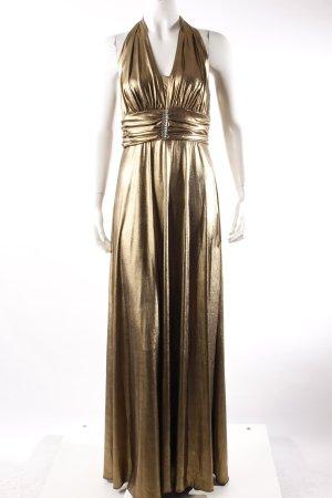 Lima Collection Neckholderkleid goldfarben