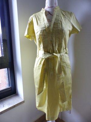 H&M Vestido camisero amarillo limón