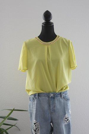 Limettengrüne Chic Bluse