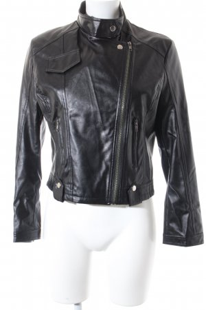 Liming Kunstlederjacke schwarz Street-Fashion-Look