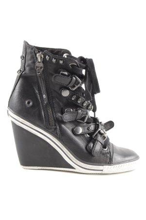 limited a by a.s.h Keil-Stiefeletten schwarz-weiß extravaganter Stil