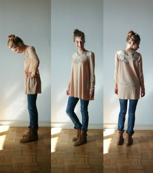 Limited -- A- line Shirts -- Powder Flower, S, XL