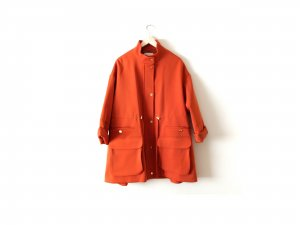Limited Edition H&M Trend Jacke Gr. M 38 40 dunkles orange terracotta trenchcoat