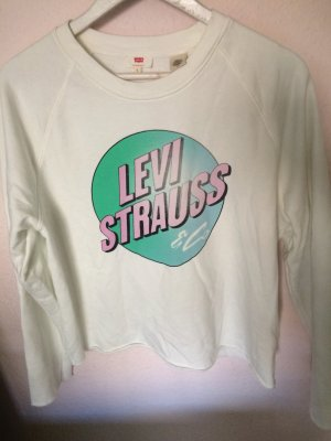 Limited Levi Strauss Pullover Logo Print Jersey in L