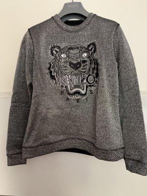 Kenzo Kraagloze sweater zilver-zwart