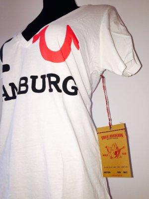 """Limitiertes True-Religion-Shirt weiß """"I Love Hamburg"""""""