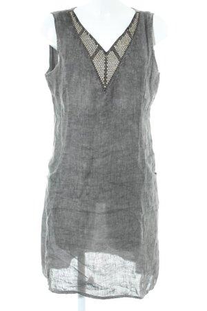 Lina Tomei Abito hippie grigio-grigio scuro stile hippie