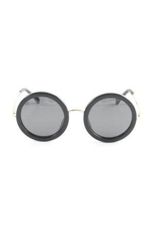 Linda farrow luxe Brille schwarz-goldfarben 60ies-Stil