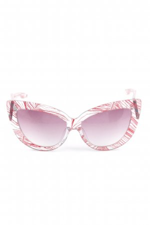 Linda farrow luxe Butterfly Glasses magenta casual look