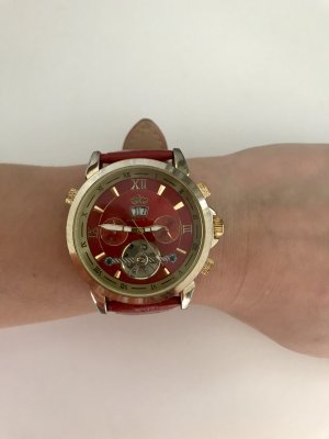 Self-Winding Watch red-bronze-colored stainless steel